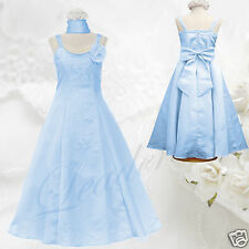 Girl National Easter Pageant Wedding Formal Party 2PC BABY BLUE Dress sz 4 - 16