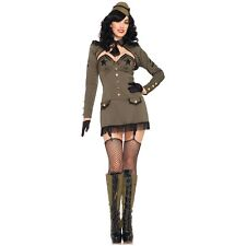 Pin Up Girl Costumes Sexy Adult 40s Military Girl Halloween Fancy Dress