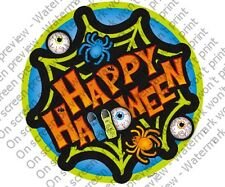 Happy Halloween Edible Cupcake Toppers Decoration Spooky Spiders Party