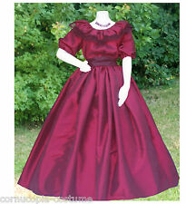 Ladies wine coloured  3pc Victorian,American Civil War costume sizes UK 22-32