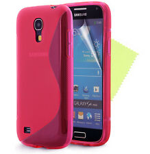 Gel Silicone Case Cover for Samsung Galaxy S4 Mini i9190 + Free Screen Protector