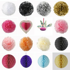 TALKING TABLES LUXURY PAPER POM POMS HONEYCOMB HANGING WEDDING PARTY DECORATIONS