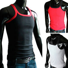 100% Cotton muscle Mens Vest Slim Fit Sexy Shirts Tank Tops Sleeveless A-shirt