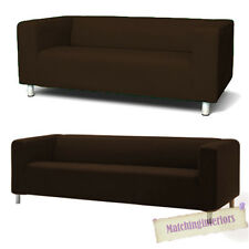 Brown Cover Slipcover to fit IKEA KLIPPAN 2 or 4 Seater Sofa Settee Replacement
