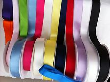 NEW 1INCH SATIN RIBBON DOUBLESIDED 3MTS £1.80 FREE P&P FAST DISPATCH