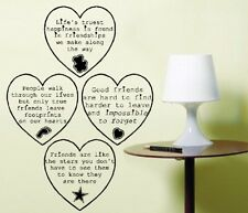 Heart Sayings Wall Art Sticker Friendship Decoration Quotes East of India Style