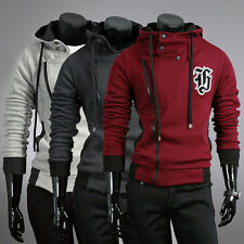 2013 New Style Mens Slim Fit Jackets Coats Hoodie Jumper Outerwear Size S M L XL