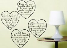 Heart Saying Wall Art Sticker Friendship Decoration Quotes East of India Style C