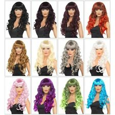Siren Wig Adult Womens Long Curly Fantasy Mermaid Fancy Dress Costume Acsy