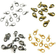 20 x Lobster Clasps CHOOSE COLOUR & SIZE Silver & Gold Plated, Bronze, Black