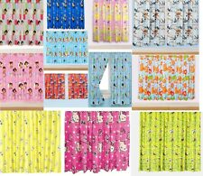 """NEW 66"""" X 72"""" CHILDRENS FLORAL NOVELTY CHARACTER CURTAINS BOYS & GIRLS PINK BLUE"""