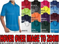 Mens Moisture Wicking Performance Dri Fit Polo Shirt Golf XS-2XL 3XL 4XL  NEW