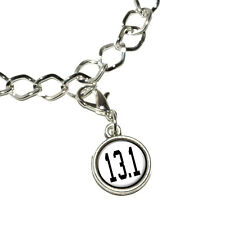 13.1 half marathon - running jogging - Bracelet Charm with Lobster Clasp