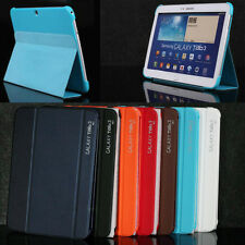 NEW Slim Thin Leather Case BOOK Cover For Samsung Galaxy Tab 3 10.1 P5200 P5210
