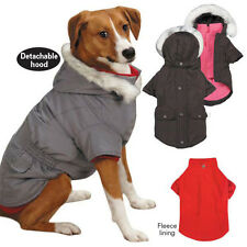 Layered Look 3 in 1 Dog Coat Jacket Removable Hood and Fleece Lining East Side C