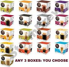 NESCAFE DOLCE GUSTO PODS: 3 BOXES of 16 CAPSULES (YOU CHOOSE). COFFEE, LATTE