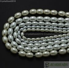 Cream Top Quality Czech Glass Pearl Oval Rice Loose Beads 6mm 7mm 8mm 9mm 16""