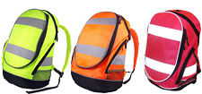 EURO HI VIS BACKPACK CYCLING RUCKSACK SCHOOL BAG 3 COLOURS  HI VISIBILITY VIZ