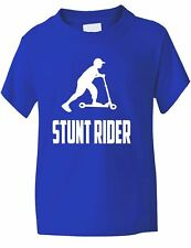 Stunt Rider Scooter Boys Girls Kids T-Shirt Birthday Gift  Age 1-13