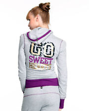 Ecko Red Hoodie & Sweatpants Set Womens Gray & Purple Active Zipper Sweatshirt