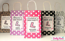 HEN NIGHT PARTY PERSONALISED POLKA DOT PATTERN PAPER PARTY FAVOUR GIFT BAG