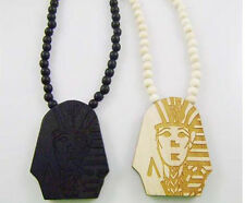 Popular Hip-Hop Last Kings Pendants Wood Rosary Bead Necklaces High Quality 1pc