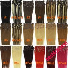 Any Color Length Clip In on Remy Human Hair Extensions Free Shipping Accessories