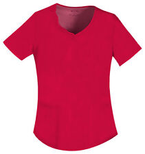 Red Cherokee Luxe V Neck Embroidered  Scrub Top 1707 REDV