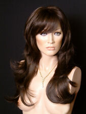 Vanity Mono LARGE CAP Stunning All Over Layers Long Hand Tied Parting Wig Wigs