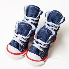 Small Pet Dog Puppy Casual Denim Boots Shoes Sneakers for Outdoor Walking 5 Size