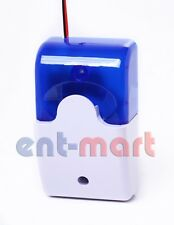Wired Strobe External Siren With Blue Strobe Light for Security Alarm System
