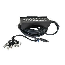 8 Channel XLR Stage Snake Cable Box, 32 49 65 98 feet, 50 100 Foot, DJ Mix Reel
