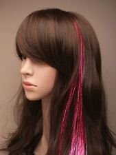 """new lazer hair extensions clip in 2 pieces 14"""" long  add colour to your hair"""