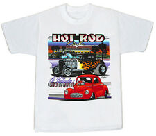 Old School Pro Street T Bucket Ford & Willys Hot Rod 100% Cotton T Shirt  NWTags