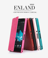 New KLD EngLand Style Flip PU Leather Cover Wallet Folio Case For Sony Xperia Z