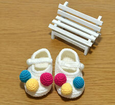 Newborn Toddler Baby Girl Crochet Knit Socks Crib Shoes soft shoes for 0-10month