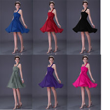 Cheap !! Prom Halter Bridesmaid Party Evening Gowns Cocktail Short Ball Dresses
