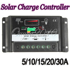 5/10/15/20/30A MPPT Solar Panel Battery Regulator Charge Controller Auto Switch