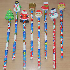 4 x Christmas Xmas Pencil Eraser Kids Stocking Fillers Party Bags Childrens Toys