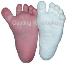 BABY PLASTER CASTING KIT 3D Babyprints Statue Keepsake Foot Hand Mold w/ Finish