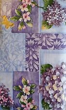 """FLANNEL-BACKED VINYL """"FLORAL""""  TABLECLOTHS - ASSORTED SIZES- BRAND NEW"""