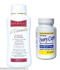 IvoryCaps Skin Whitening Pill+Makari Naturalle INTENSE EXTREME Body Lotion 500ml