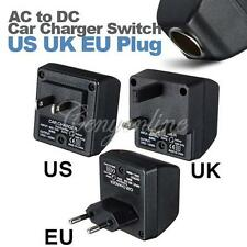 AC 100-240V to DC 12V Home to Car Power Adapter Converter Charger US UK EU Plug
