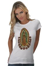 Women's The Madonna Our Lady Of Guadalupe Mary Religious Graphic Art T-Shirt