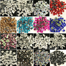 144pcs square/teardrop/Triangle Iron-on Hotfix Crystal Rhinestones U-pick colors