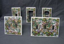Light Switch Cover Plate ~ Stained Glass Magnolia Floral Image