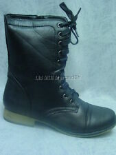 Victorian style Old West low-heeled black granny boots Black sizes 5-10