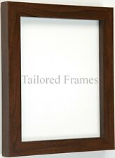 Walnut dark wood frame for photo and picture in square design.To stand or Hang.