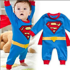 Baby Romper Superman Dress Smock Infant Romper Halloween Christmas Costume Gift