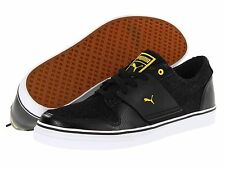 Puma Shoes Mens El Ace 2 Denim Cat Logo Black Athletic Casual Fashion Sneaker